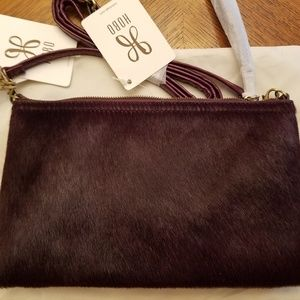 Eggplant Converts to a Crossbody, Clutch, Wristlet